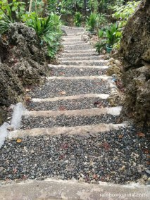 One of the many paths leading to gardens and pools at Enchanted Cave Resort in Bolinao, Pangasinan