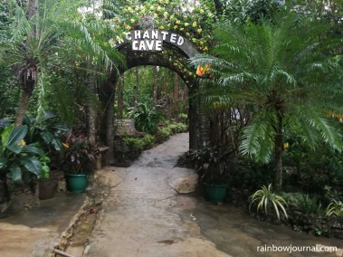 Path leading to the underground cave pool in Enchanted Cave Resort