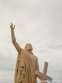 There are also life-size stations of the cross on Pilgrimage Island