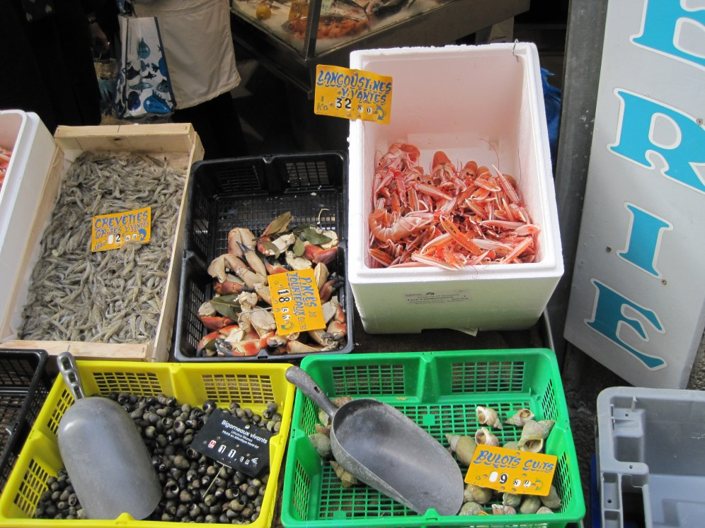 Fresh seafood in St Malo
