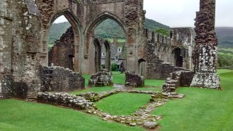 The Priory Ruins in the tiny Hamlet of Llanthony