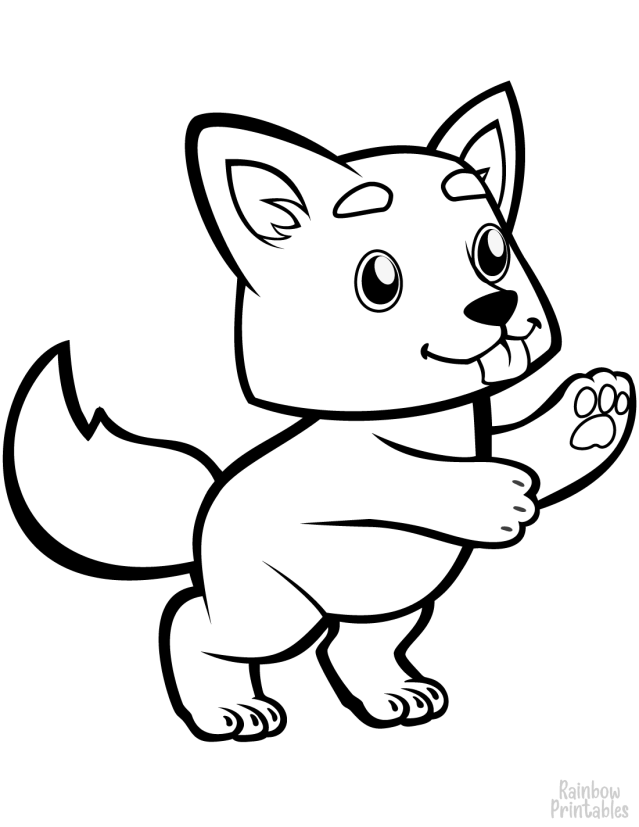 Wolves Coloring Page for Kids - Rainbow Printables