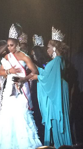 Aria, queen of voices crowned at Miss Gay UsOfA! #LoveHer!