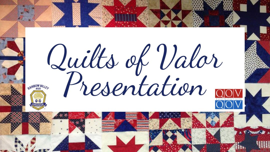 Quilts of Valor Presentation 2019