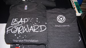 One color screen printed t-shirt for the Max Foundation