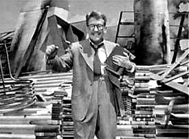 Burgess Meredith on the Twilight Zone