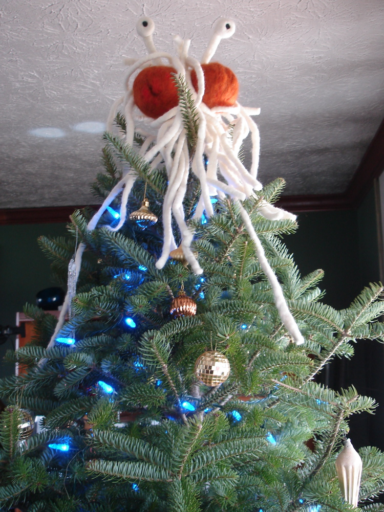 flying spaghetti monster tree topper