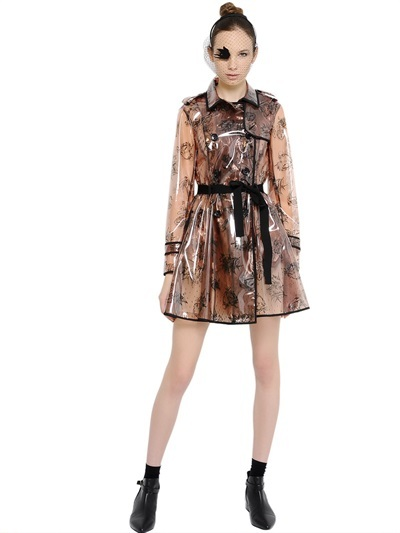 RED Valentino Birds Printed Trench Coat
