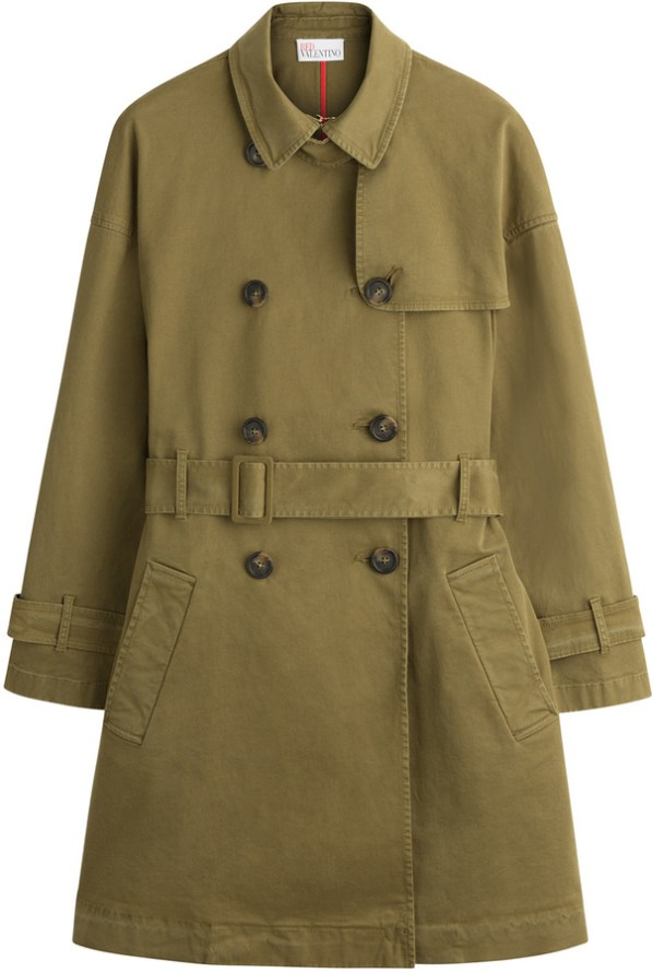 RED Valentino Stretch Cotton Trench Coat