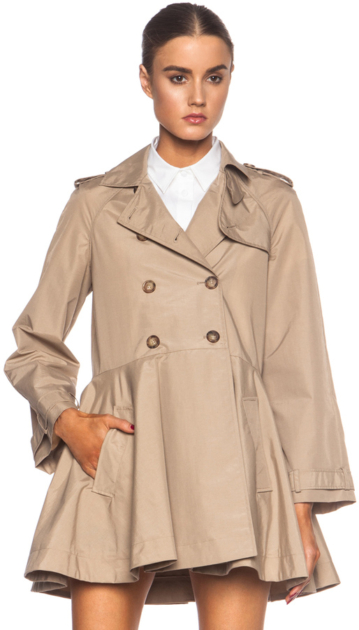 Red Valentino Canvas Polyamide Trench Coat