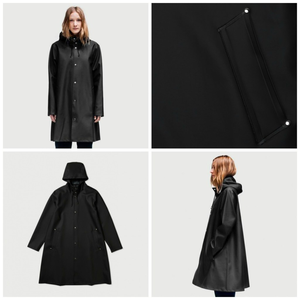 Mosebacke Black Rubber Raincoat