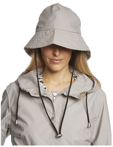 Ilse Jacobsen Women's Waterproof Raincoat With Matching Hat