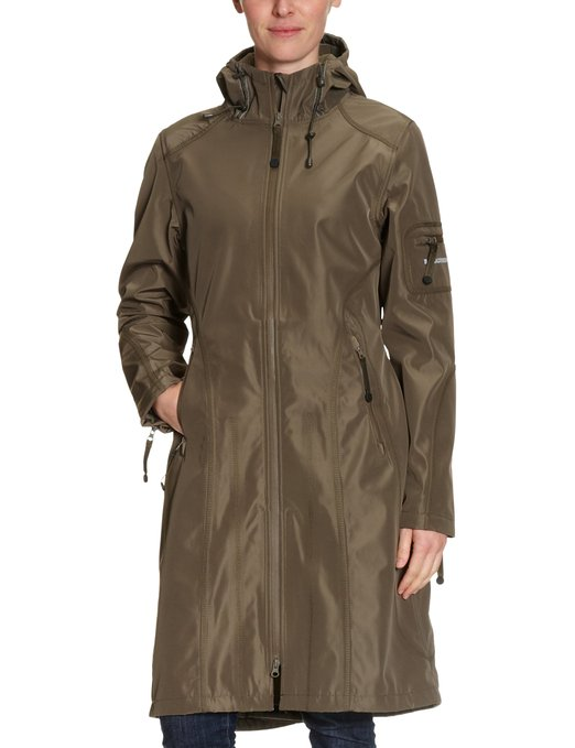 ILSE JACOBSEN Women's Hooded Long - regular Rain Coat