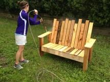 Repurposed Pallets - Bench Raindrop