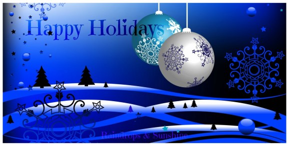 Happy Holidays Blue