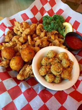 Fried Alligator and Okra