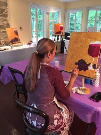 Artist Brandy hard at work