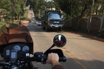 Riding through Nairobi