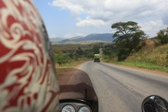 Riding through Tanzania