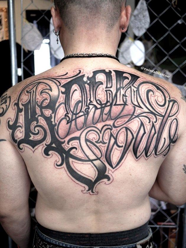 tattoo lettering script chicano