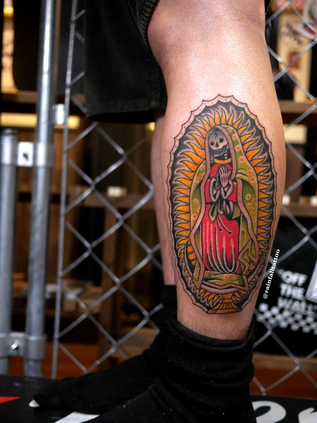 tattoo traditional oldschool skullmaria guadalupe