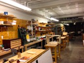 One of the cabinet and furniture making bench rooms.