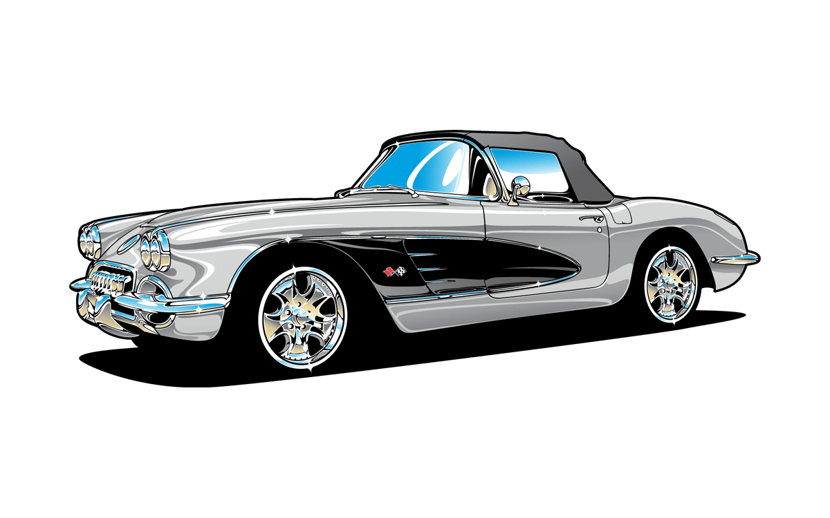 Chassis Wiring Diagram For The 1958 1960 Chevrolet Corvette