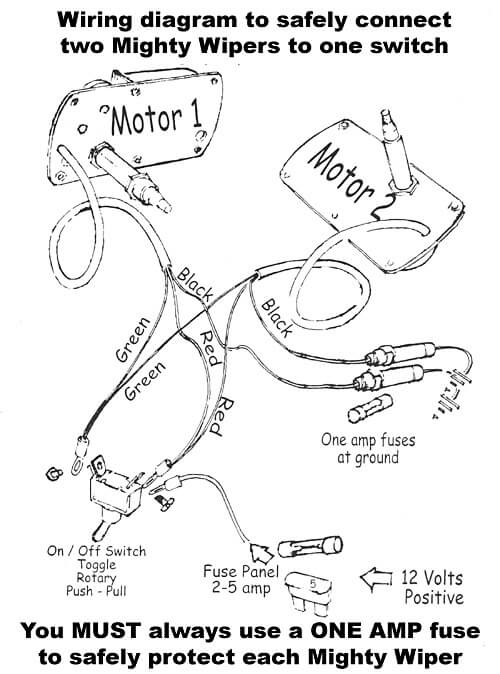 the mighty wiper  wiring diagram  raingear wiper systems