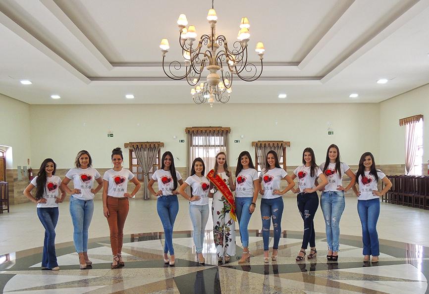 Rainha e as candidatas de 2019.