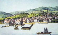 Horgen, ZH -- etching by Heinrich Brupbacher (1758-1835)