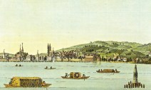 The City of Zürich -- etching by Heinrich Brupbacher (1758-1835)