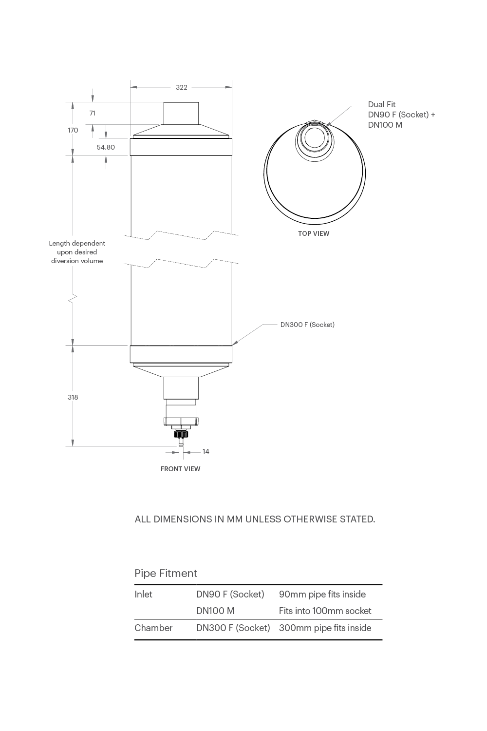 hight resolution of first flush post wall dimensions installation