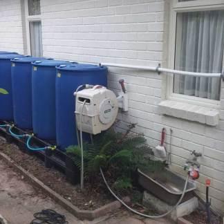 Water Butt 1000L Garden Drum Kit