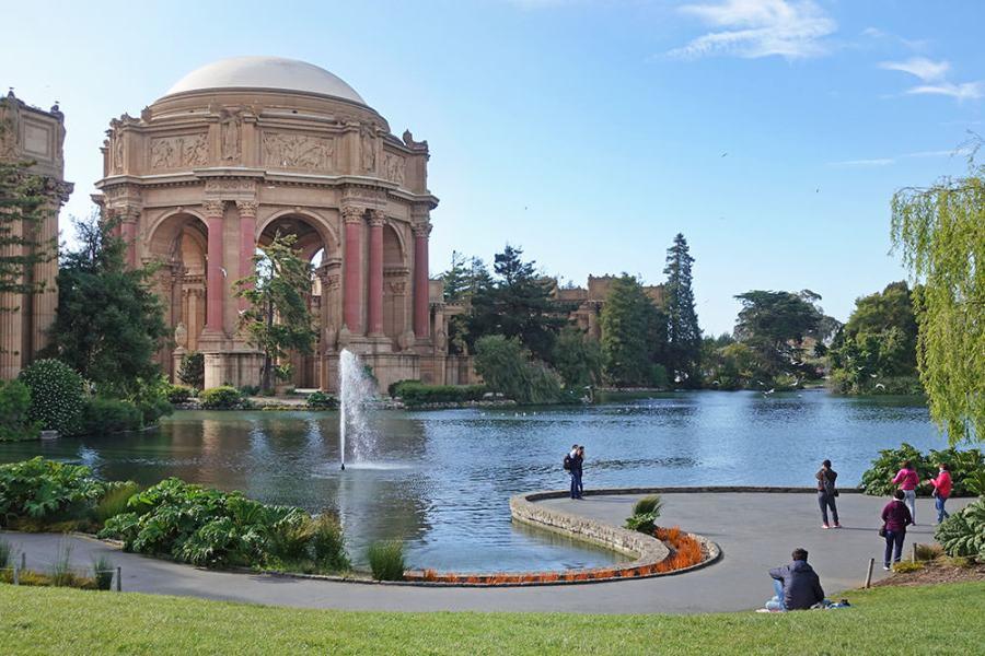 舊金山 | 藝術宮 Palace of Fine Arts 壯闊的小景點,萬國博覽會遺址