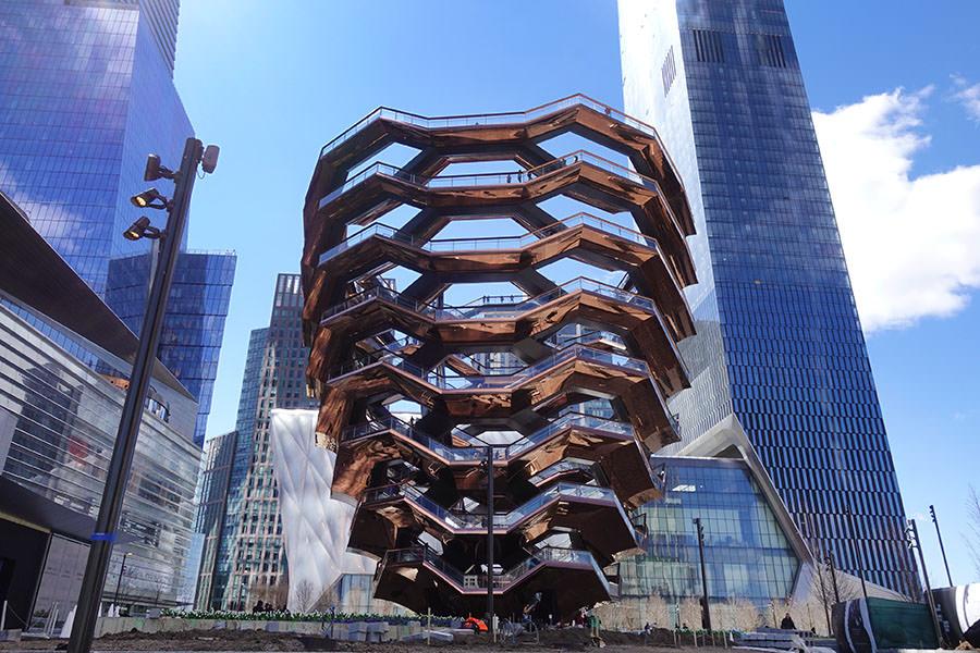 The Vessel, Hudson Yards New York 紐約新地標!! 曼哈頓巨型松果,階梯式觀景台門票免費索取!!