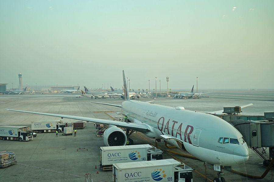 卡達航空 Qatar Airways | QR78 柏林TXL ⇒ 杜哈DOH 飛行紀錄,奇特的泰戈爾機場