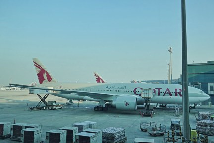 卡達航空 Qatar Airways | QR838 杜哈(DOH) ⇒ 曼谷(BKK) Airbus A350 飛行紀錄