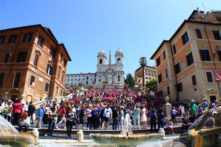 義大利   羅馬西班牙廣場 Piazza di Spagna, Rome 走進電影《羅馬假期》的花花世界!!