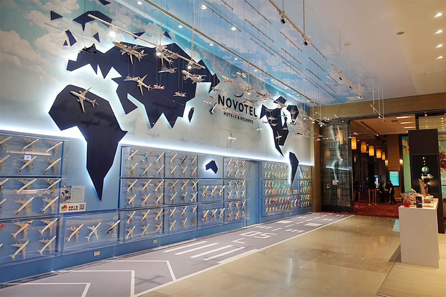 台北諾富特華航桃園機場飯店 Novotel Taipei Taoyuan 房內看飛機~進出國門過境旅館最佳選擇!