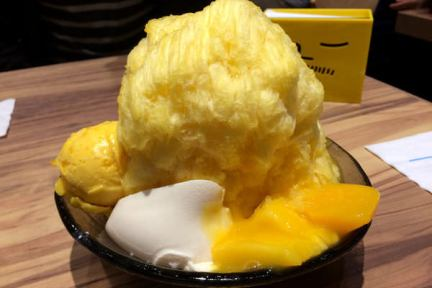 台北信義 | 微風松高 ICE MONSTER - 新鮮芒果棉花甜