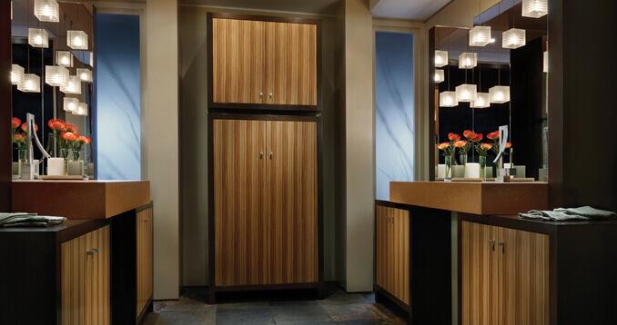 Wood-Mode bathroom cabinetry