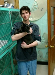 Todd Hubbard, Kennel Attendant, at Rainier Veterinary Hospital in Seattle