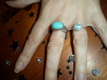 The smaller ring was a birthday gift to a friend.