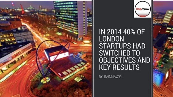 The time when 40% of London startups switched to Objectives and Key Results Objectives and Key Results