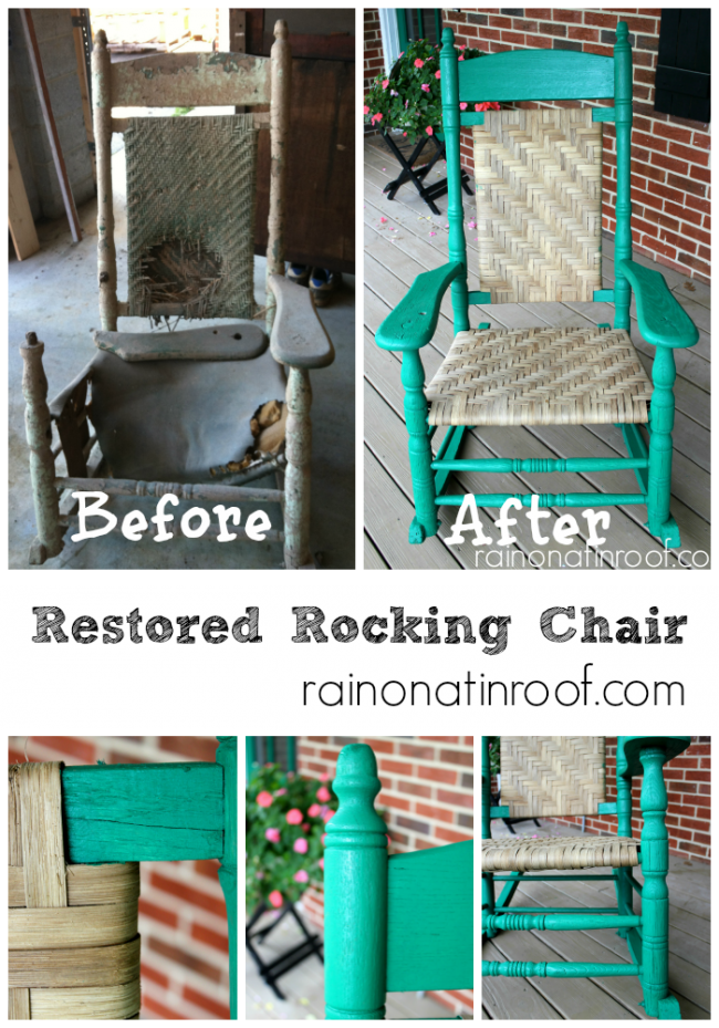 100 year old Restored Rocking Chair