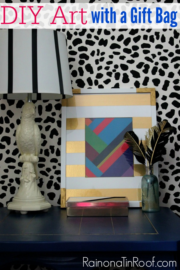 DIY Wall Decor With A Gift Bag Less Than 15 Minutes Less