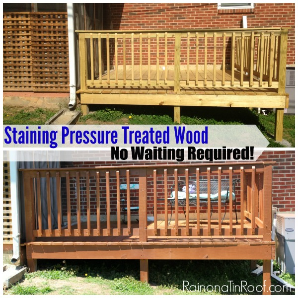 Staining Pressure Treated Wood How to Stain Treated Wood