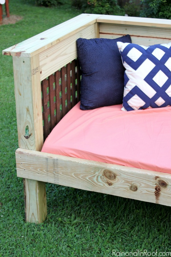 diy daybed sofas living room with leather sofa outdoor simple build make it for 200 or less