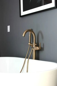 Master Bathroom: Champagne Bronze Faucets and Fixtures