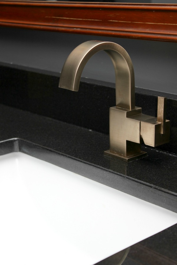 Master Bathroom Champagne Bronze Faucets and Fixtures